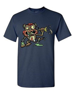 Zombie Monkey Undead Animals Devil Monster Horror Adult DT T-Shirt Tee