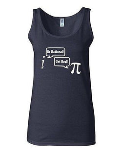 Junior Be Rational Get Real Math Funny Humor Novelty Statement Graphics Tank Top