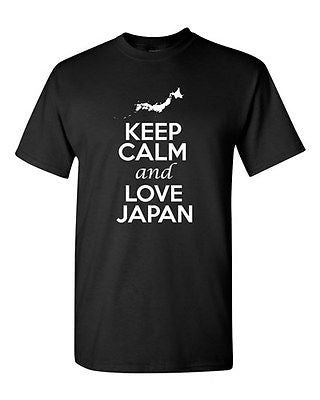 Keep Calm And Love Japan Country Nation Patriotic Novelty Adult T-Shirt Tee