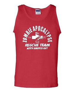 2012 Zombie Apocalypse Rescue Team North America Unit Novelty Adult Tank Top