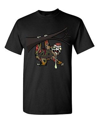Zombie Sloth Undead Animals Devil Monster Horror Adult DT T-Shirt Tee