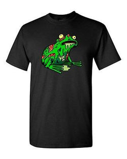 Zombie Frog Undead Animals Devil Monster Horror Adult DT T-Shirt Tee