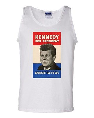 John F. Kennedy 1960 Campaign Poster JFK Novelty Graphics Adult Tank Top