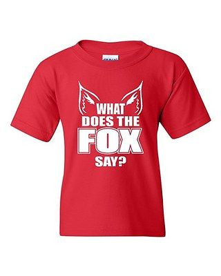 What Does The Fox Say Novelty Youth Kids T-Shirt Tee