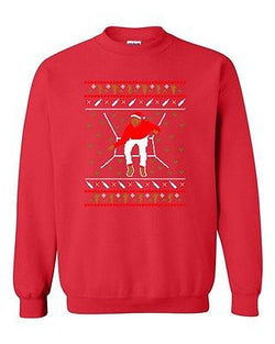 Bling Santa Sweater Music Song Ugly Christmas Funny Humor DT Crewneck Sweatshirt