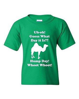 Hump Day! Whoot Whoot ! Camel Novelty Youth Kids T-Shirt Tee