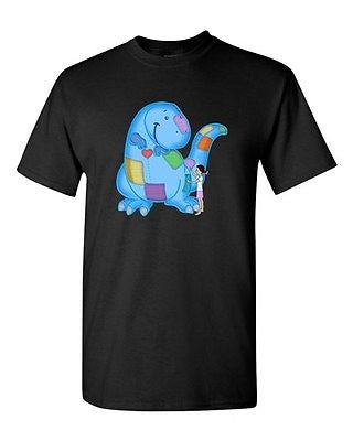Fighting Extinction Dinosaur Dino Tanya Ramsey Artwork Art DT Adult T-Shirts Tee