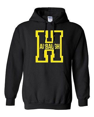 Harbaugh Big Letter H Football Michigan Sports Game Novelty Sweatshirt Hoodie