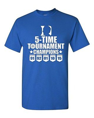 5-Time Tournament Champions K Blue Sports North Carolina Adult T-Shirt Tee