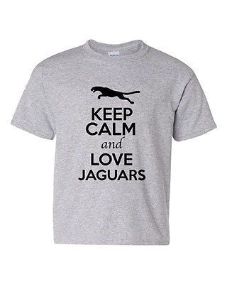 Keep Calm And Love Jaguars Wild Big Cat Animal Lover Youth Kids T-Shirt Tee