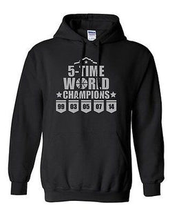 5 Time World Champions San Antonio Basketball Novelty Gift Sweatshirt Hoodies