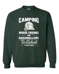 Camping Where Friend And Marshmallow Get Toasted Together DT Crewneck Sweatshirt