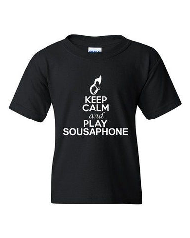 City Shirts Keep Calm And Play Sousaphone Music Lover DT Youth Kids T-Shirt Tee