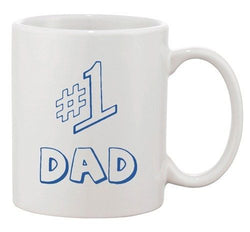 #1 One Dad Daddy Father's Day TV Comedy Series Funny DT White Coffee 11 Oz Mug
