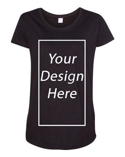 Add Your Own Text and Design Custom Personalized Maternity DT T-Shirt Tee