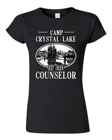 Junior Camp Crystal Lake Counselor 1935 Summer Parody Funny TV DT T-Shirt Tee