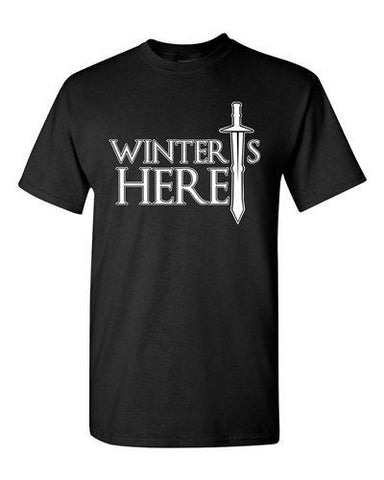 Winter Is Here Sword TV Parody Funny DT Adult T-Shirts Tee
