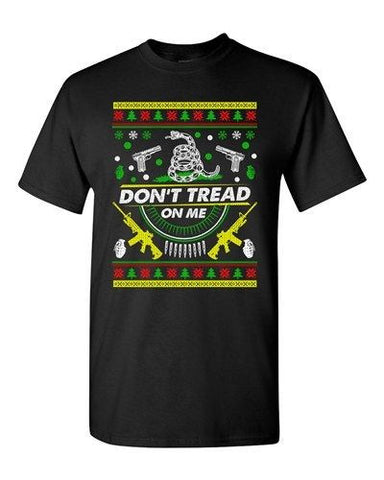 Don't Tread On Me Snake Weapon Gun Gadsden Flag Political Adult DT T-Shirt Tee