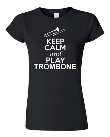 City Shirts Junior Keep Calm And Play Trombone Brass Music Lover DT T-Shirt Tee