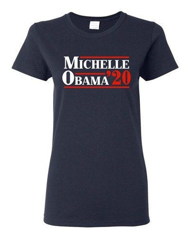 Ladies Michelle Obama '20 First Lady USA President Political DT T-Shirt Tee