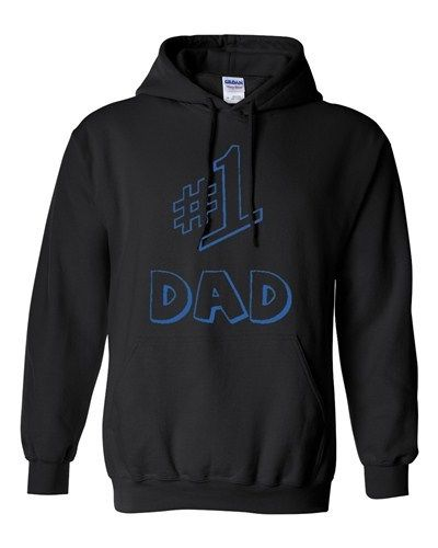 #1 One Dad Daddy Father's Day TV Comedy Series Gift Novelty Sweatshirt Hoodie