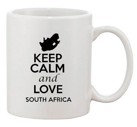 Keep Calm And Love Sudan Africa Country Map Patriotic Ceramic White Coffee Mug