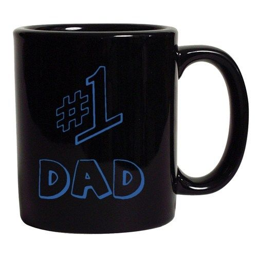 #1 One Dad Daddy Father's Day TV Comedy Series Funny DT Black Coffee 11 Oz Mug