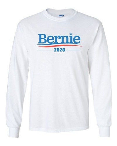 Long Sleeve Adult T-Shirt Bernie 2020 For President Election Campaign DT
