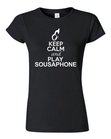 City Shirts Junior Keep Calm And Play Sousaphone Music Lover DT T-Shirt Tee