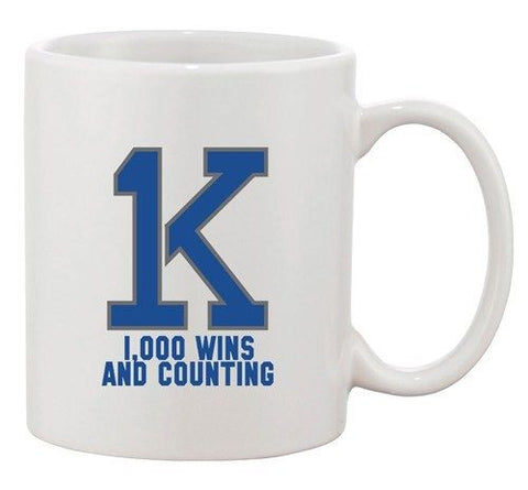 1K K Bold Wins And Counting Basketball Ball Sports DT Ceramic White Coffee Mug