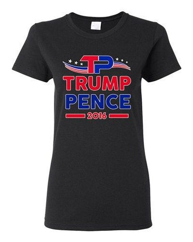 Ladies TP Trump Pence 2016 Vote for President USA Election (A) DT T-Shirt Tee