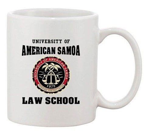 University Of American Samoa Law School Samoan TV DT Ceramic White Coffee Mug