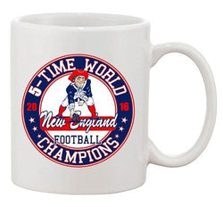 Amazing 5-Time World Champion New England Football Sports DT Coffee 11 Oz Mug