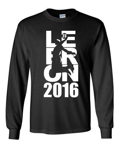 Long Sleeve 2016 Lebron 23 Cleveland King MVP Sports Basketball Ball Fan DT