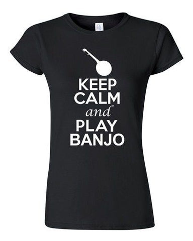 City Shirts Junior Keep Calm And Play Banjo String Music Lovers DT T-Shirt Tee