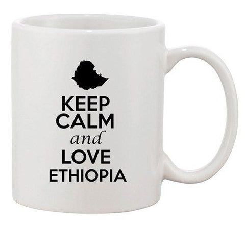 Keep Calm And Love Gabon Africa Country Map Patriotic Ceramic White Coffee Mug