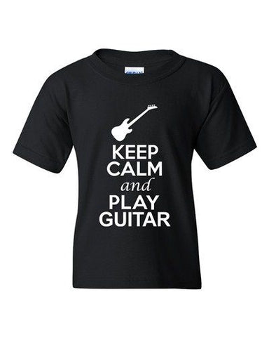 City Shirts Keep Calm And Play Guitar Music Lover DT Youth Kids T-Shirt Tee