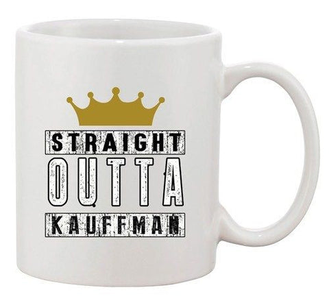 Straight Outta Kauffman Crown Baseball Sports Ball DT Ceramic White Coffee Mug