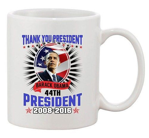 Thank You President Barack Obama 44th President USA Flag DT Coffee 11 Oz Mug