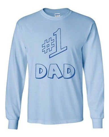 Long Sleeve Adult T-Shirt #1 One Dad Daddy Father's Day TV Comedy Series Funny