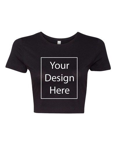 Crop Top Ladies Add Your Own Text and Design Custom Personalized T-Shirt Tee