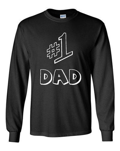 Long Sleeve Adult T-Shirt #1 One Dad Daddy Father's Day TV Comedy Funny Novelty