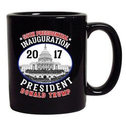 58th Presidential Inauguration President Donald Trump Black DT Coffee 11 Oz Mug
