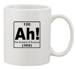 Ah! The Element Of Surprise Science Chemistry Funny Ceramic White Coffee Mug