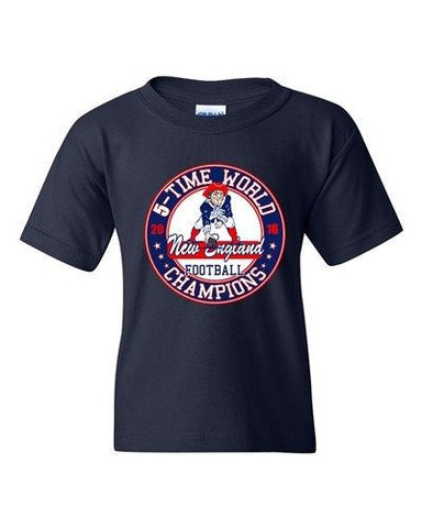 Amazing 5-Time World Champion New England Football DT Youth Kids T-Shirt Tee