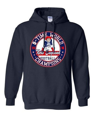Amazing 5-Time World Champion New England Football Sports DT Sweatshirt Hoodie