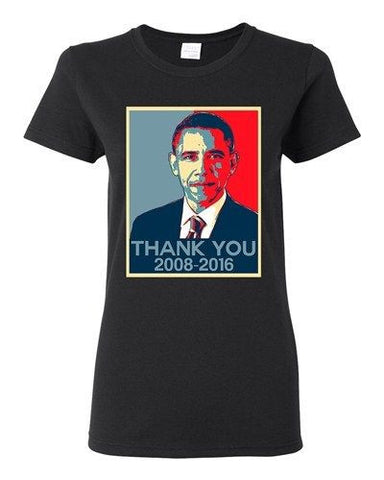 Ladies New Thank You President Obama United States America USA DT T-Shirt Tee