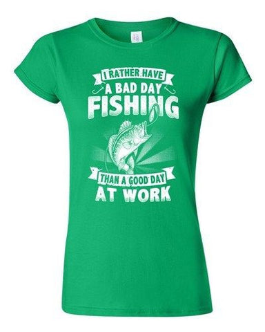 Junior I Rather Have A Bad Day Fishing Than A Good Day At Work DT T-Shirt Tee