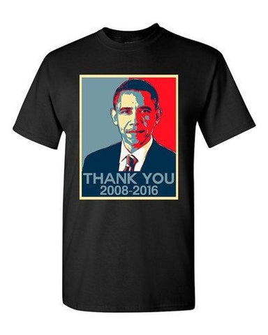 New Thank You President Obama United States America USA Adult DT T-Shirt Tee