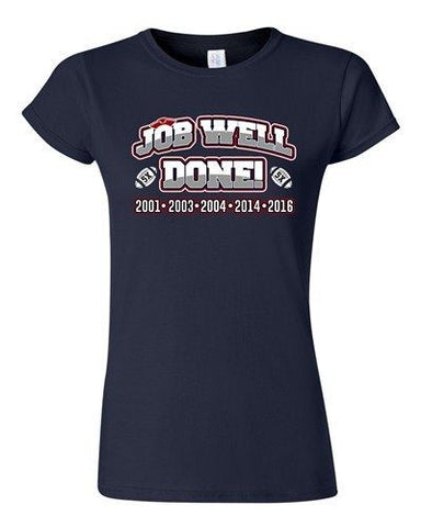 Junior Job Well Done World Champion New England Football Sports DT T-Shirt Tee